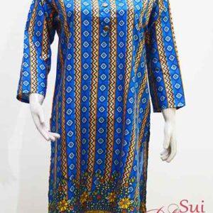 Stitched Khaddar Kurti in Blue Color
