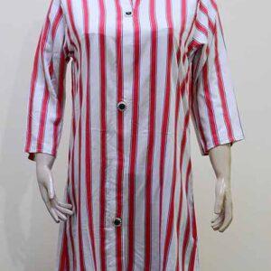 China Linen Shirt Design Red Lines