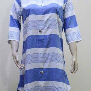 China Linen Light Blue Lines Shirt