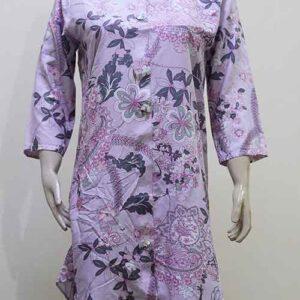 Stitched China Linen Flower Design